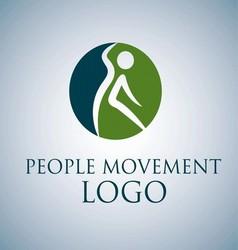 PEOPLE MOVEMENT LOGO 7 vector image