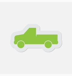 simple green icon - car vector image vector image