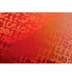 abstract orange background digits grunge vector image