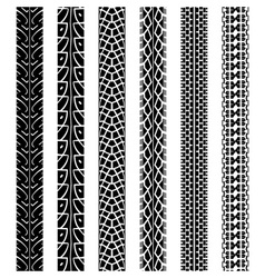 Collection motorcycle tire tracks vector