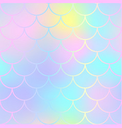 fantastic fish skin pattern with scale ornament vector image vector image