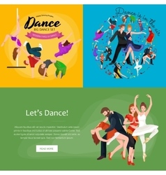 Group of dancing people yong happy man and woman vector image