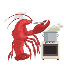 Lobster cooker vector image