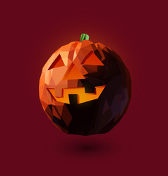 low poly style halloween vector image vector image
