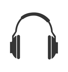 Music headphones technology icon vector image