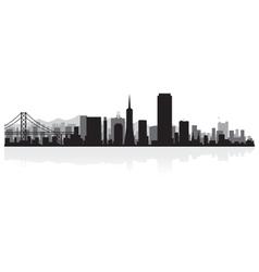 San Francisco USA city skyline silhouette vector image vector image