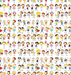 Seamless design of a group of people vector image