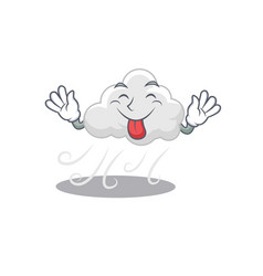 An amusing face cloudy windy cartoon design with vector
