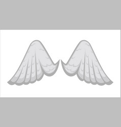 angelic wings with white feathers avian plumage vector image