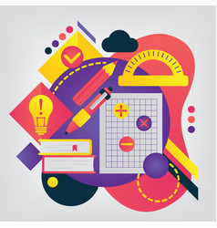 back to school concept mathematics vector image