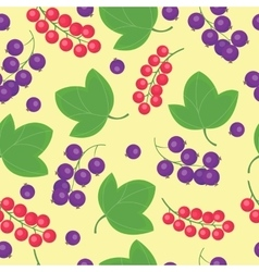 berries currant seamless patterns vector image