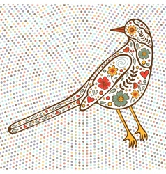 Bird on dotted background vector image