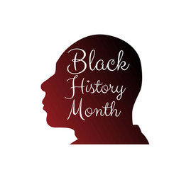 Black history month concept with silhouette vector