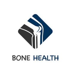 bone care logo vector image