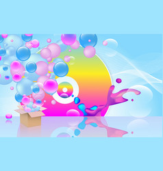 bright abstract background party theme vector image
