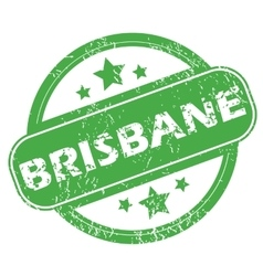 Brisbane green stamp vector