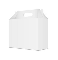 Cardboard box with handle vector