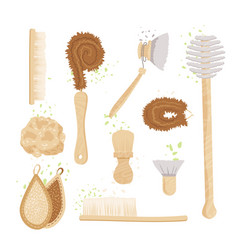 Cartoon set kitchen household and house vector