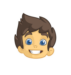 cartoon small boy head vector image