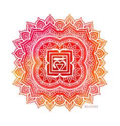 chakra symbol coloring vector image