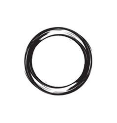Circle brush design vector