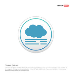 Cloud icon - white circle button vector