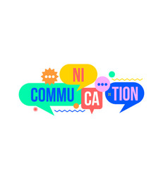 Communication concept from colorful speech bubble vector