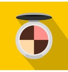 Cosmetics rouge icon flat style vector