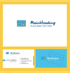 credit card logo design with tagline front and vector image
