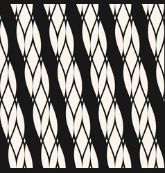 Diagonal ropes seamless pattern black and white vector