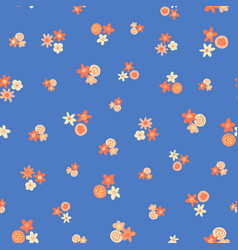 ditsy summer flowers pattern scattered vector image