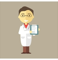 Doctor Man with Stethoscope vector
