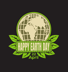 Earth day logo icon vector