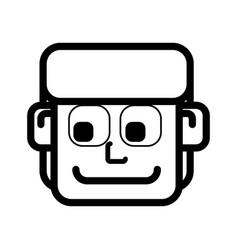 Face man cartoon vector