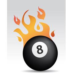 fire eight ball vector image