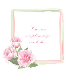 Floral background flower rose bouquet vintage vector