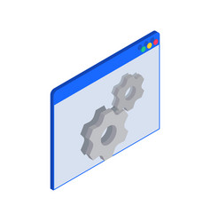 gear coding window composition vector image