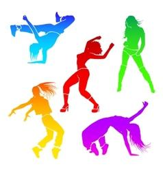girl dance vector image