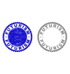 Grunge futurism scratched watermarks vector