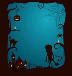 halloween theme scary poster vector image