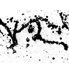 hand-made grunge texture abstract ink drops vector image