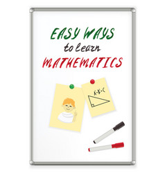 handwriting text easy ways to learn mathematics on vector image