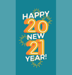 happy new 2021 year flat design element vector image