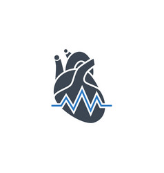 heartbeat ratev related glyph icon vector image