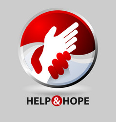 Help and hope vector
