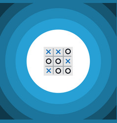 Isolated tic-tac-toe flat icon x-o element vector