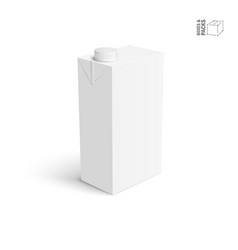juice and milk blank white carton box vector image