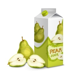 Juice pack pear vector image