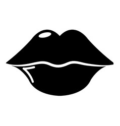 lips icon simple style vector image