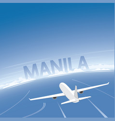 Manila flight destination vector